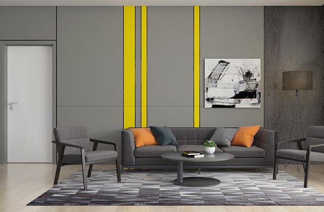 都市闲情·免漆门印象白M01