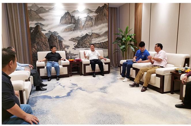 清远市委常委陈焕雄一行调研卡诺亚生产基地